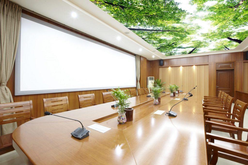Printed Ceilings of nature in luxury office
