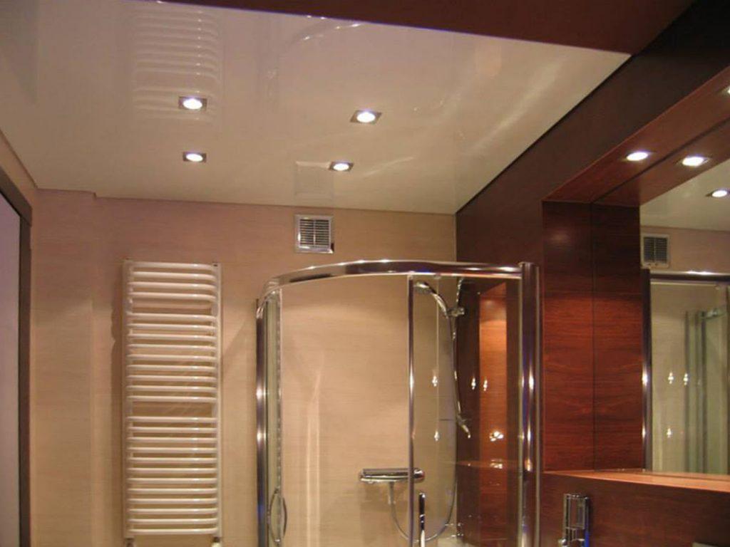 custom bathroom with stretch ceiling vanilla ice fabric