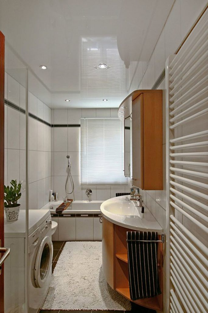 laundry room with luxury gloss stretch ceiling delhi