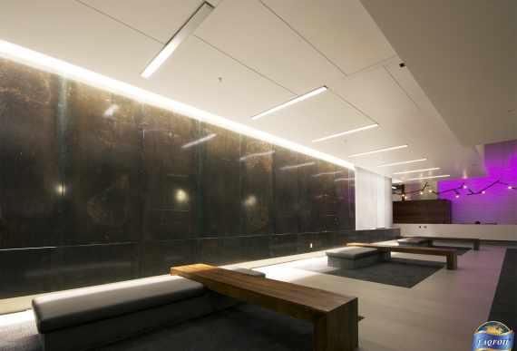 custom hallway with amazing Linear Lights Ceilings