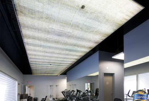 amazing gym with luxury stretch ceiling