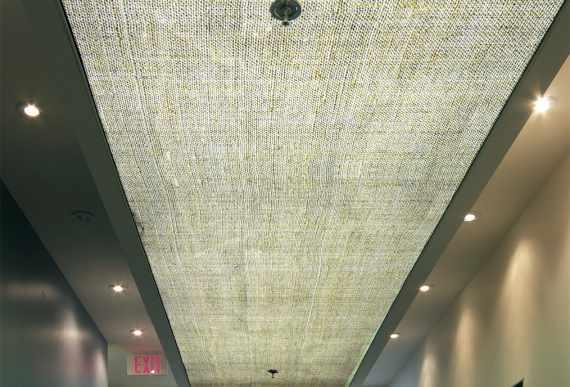 stretch ceiling with backlit in custom GYM