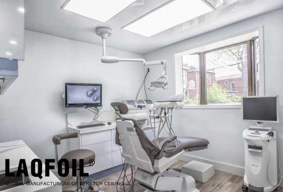 amazing doctor office with Linear Lights Ceiling by laqfoil team