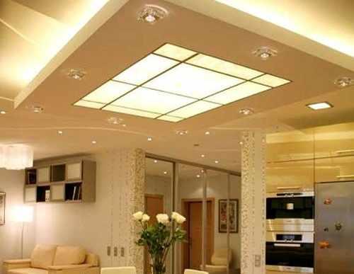 multilevel backlit printed ceiling