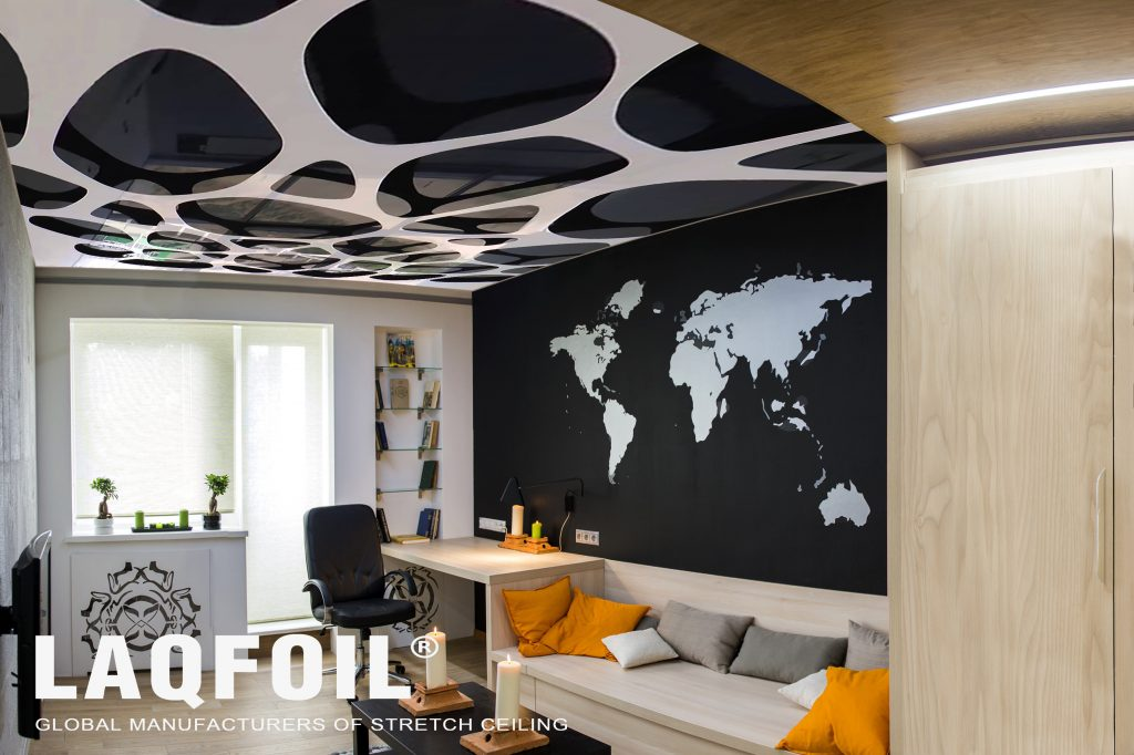 black dots in luxury reflective Perforated Ceilings