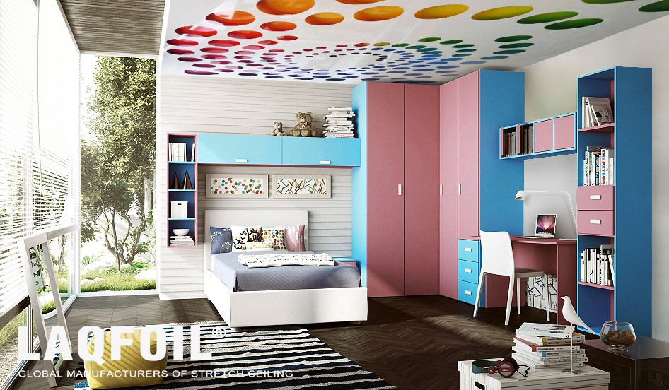 Perforated Stretch Ceilings in luxury kids room