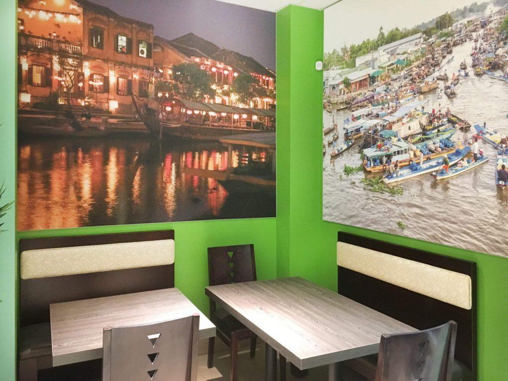 amazing wall murals in custom restaurant