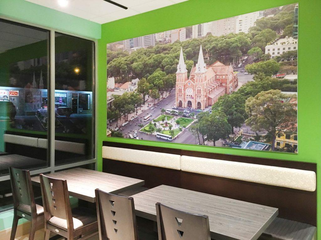 Custom Wall Cover in Amazing Restaurant