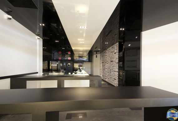 reflective stretch ceiling and walls