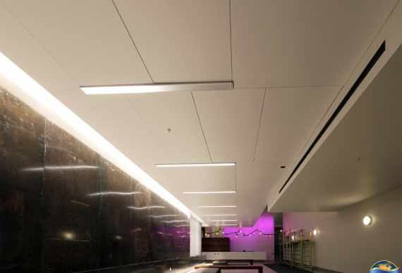 amazing hallway with Linear Lights Ceiling