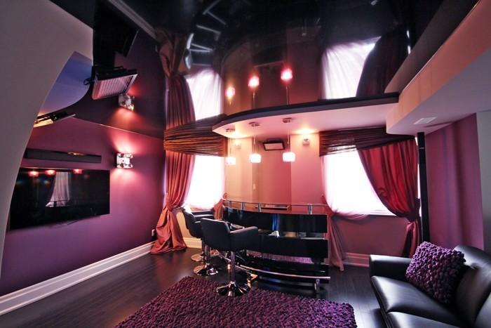 Starry Sky Ceilings in custom basement theater