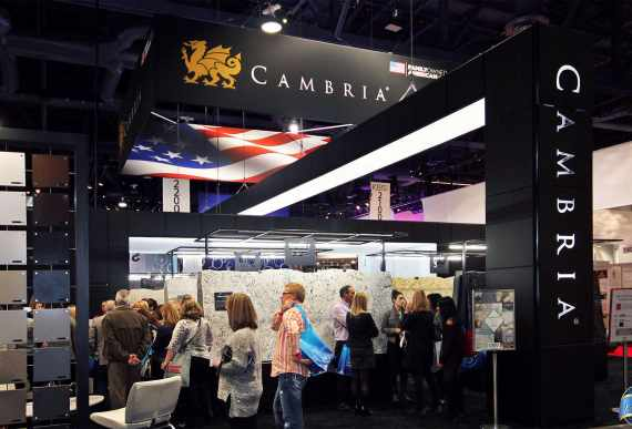 Cambria at KBIS Las Vegas with amazing liner lights ceiling