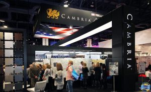 Linear Lights reflective stretch ceilings in Cambria show at KBIS Las Vegas by laqfoil team