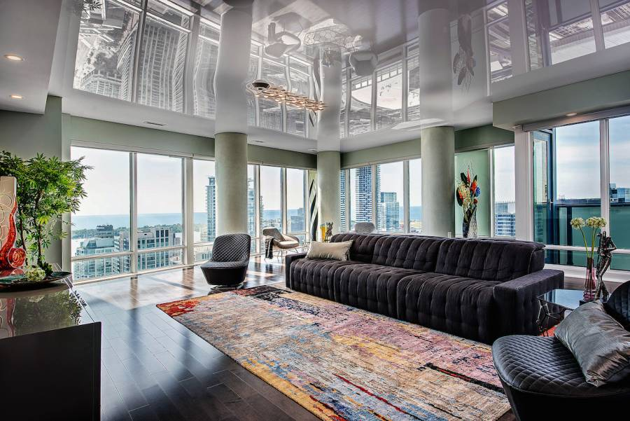Luxury Condo Apartment with High Gloss Stretch Ceiling
