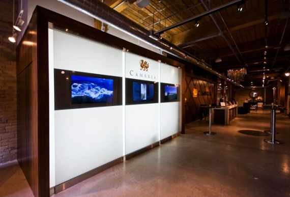 custom backlit wall cover by Laqfoil-and-Cambria-at-KBIS-Las-Vegas