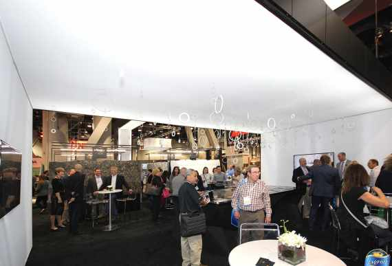 high gloss stretch ceiling in cambria trade show florida