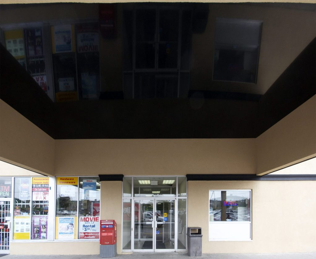 black reflective stretch ceiling Plaza Awning in Rexdale