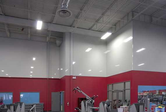 stretch-membrane-on gym walls qatar