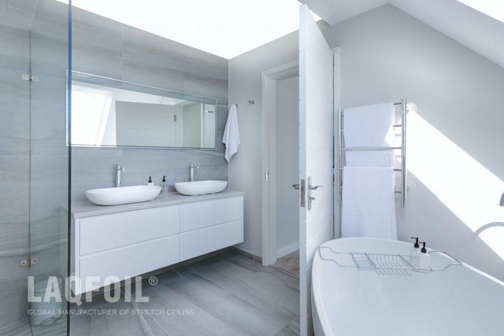 backlit ceiling in amazing bathroom toronto