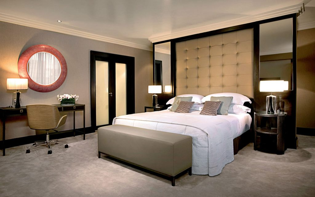 bedroom with stretch ceiling glossy Toronto