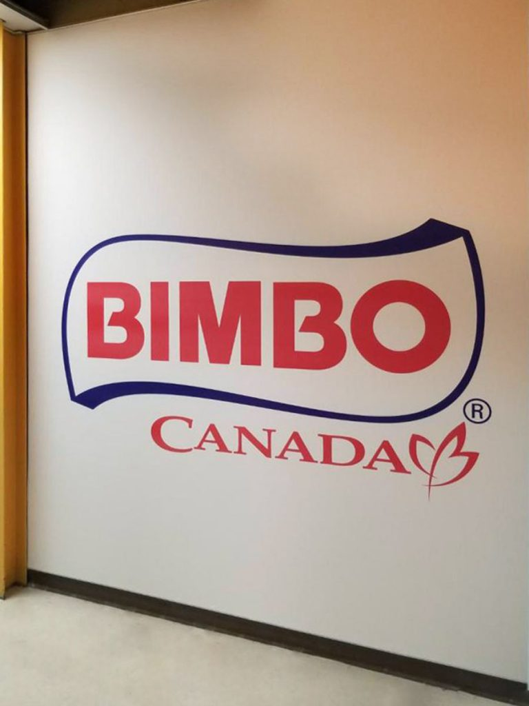 custom wall cover of bimbo logo