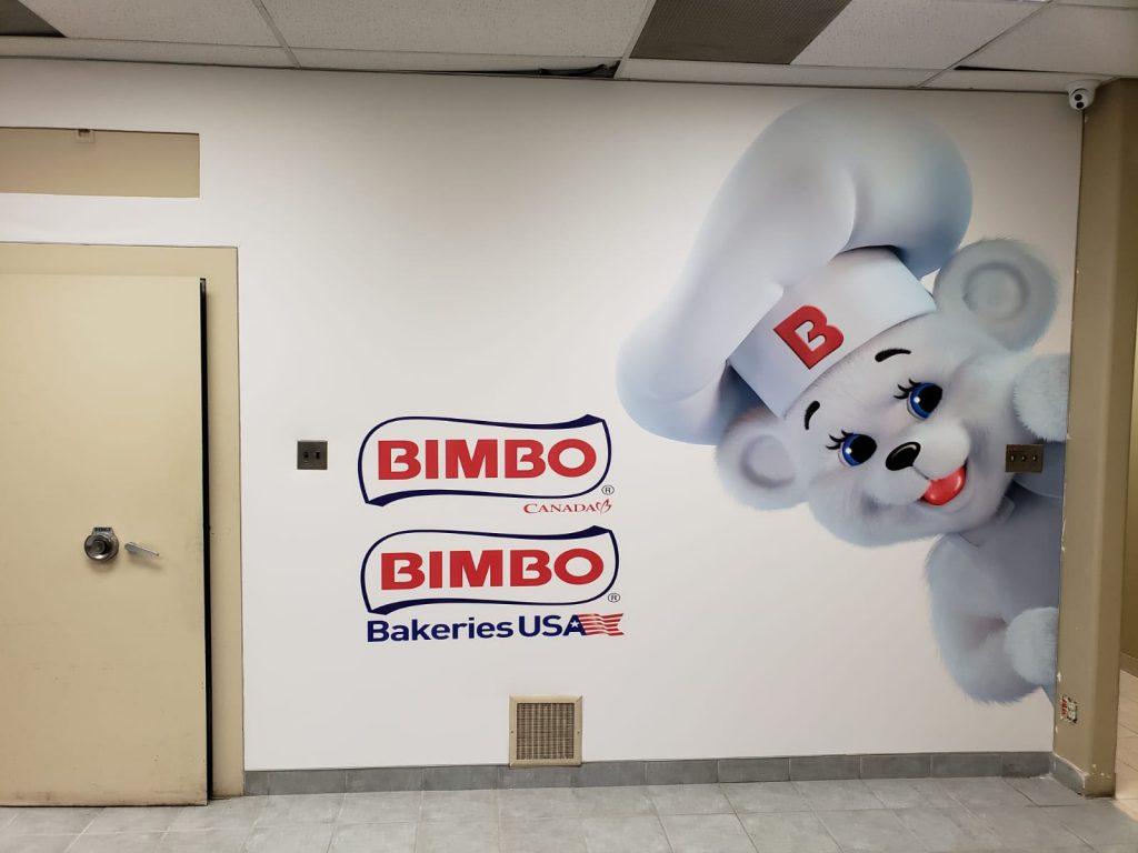 luxury bimbo custom wall murals in the office