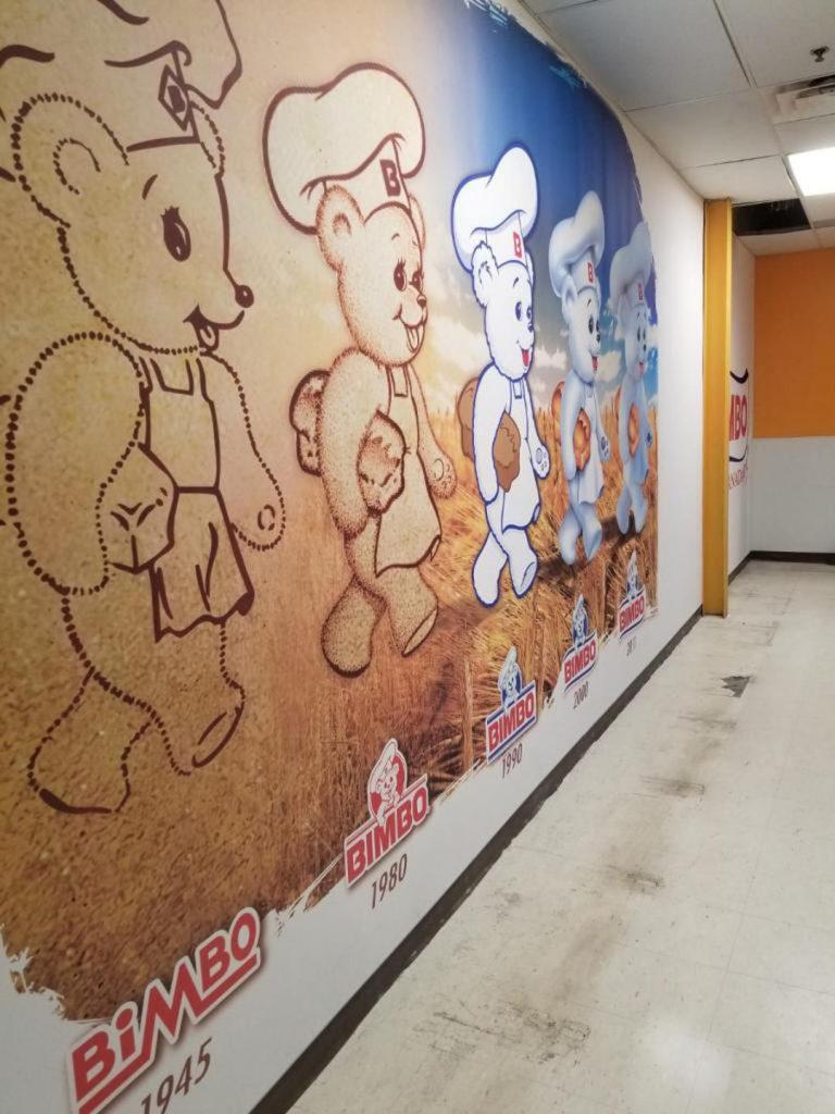 Bimbo year progress, custom wall cover