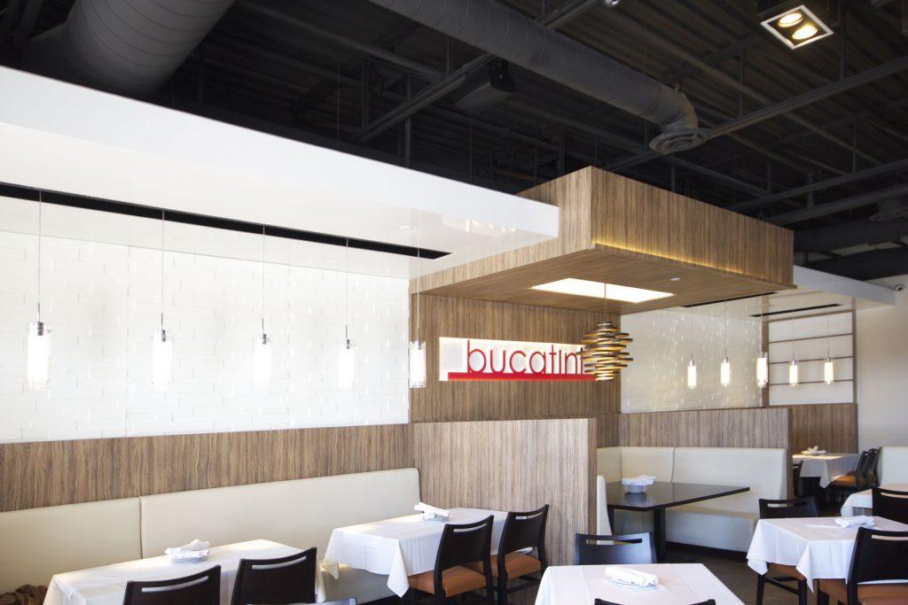 Bucatini Restaurant multilevel high gloss stretch ceiling