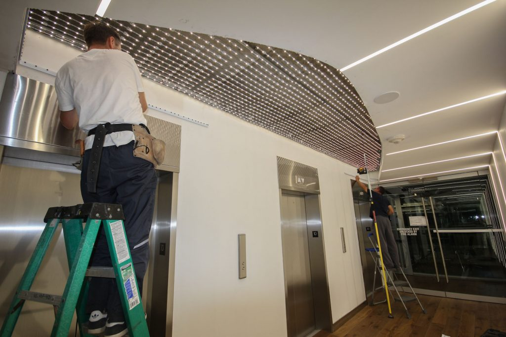 GTA Office Linear Lights Ceilings and walls install