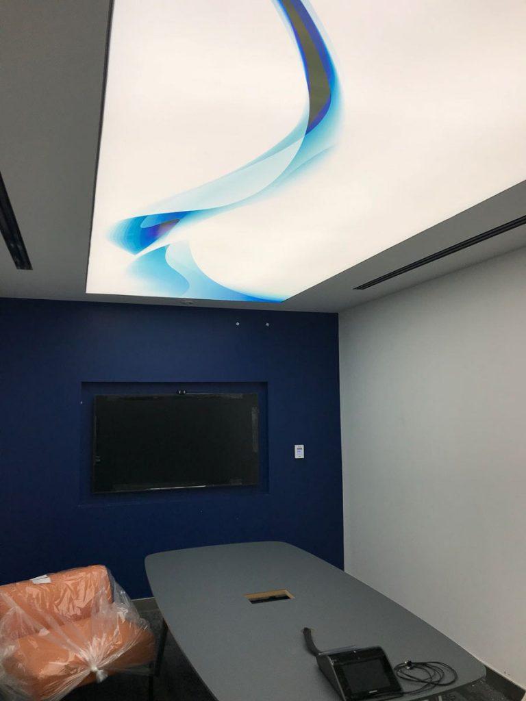 GTA Office white backlit printed ceiling