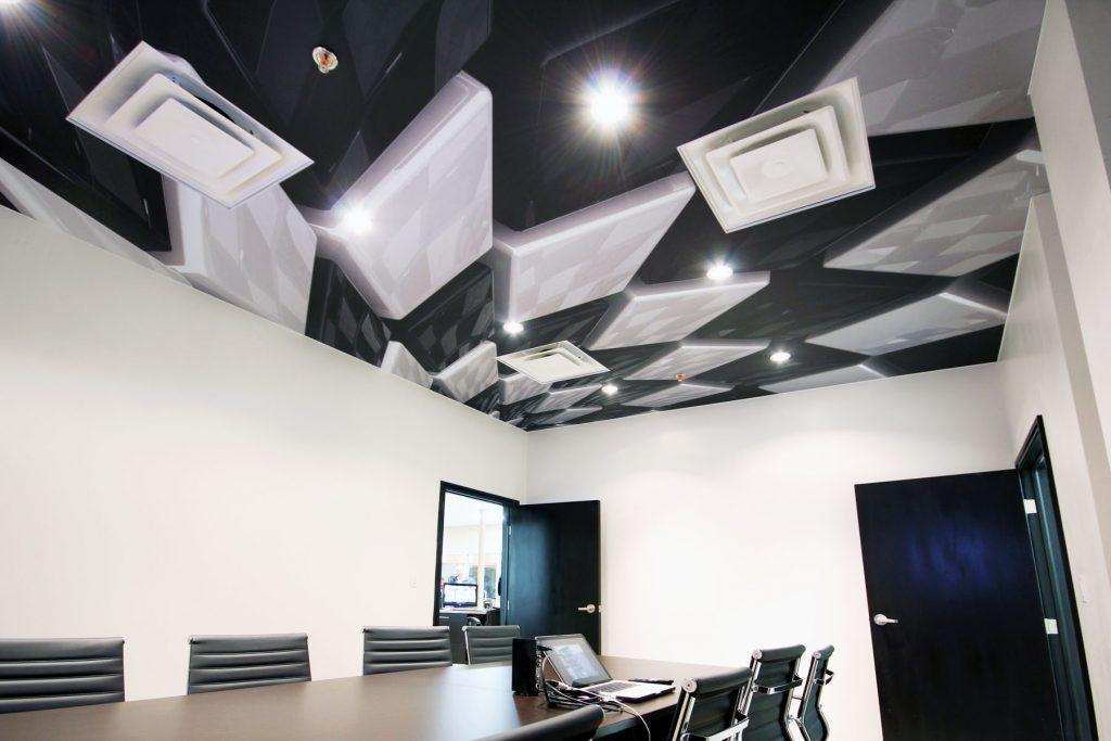 custom printed ceiling in luxury office by laqfoil
