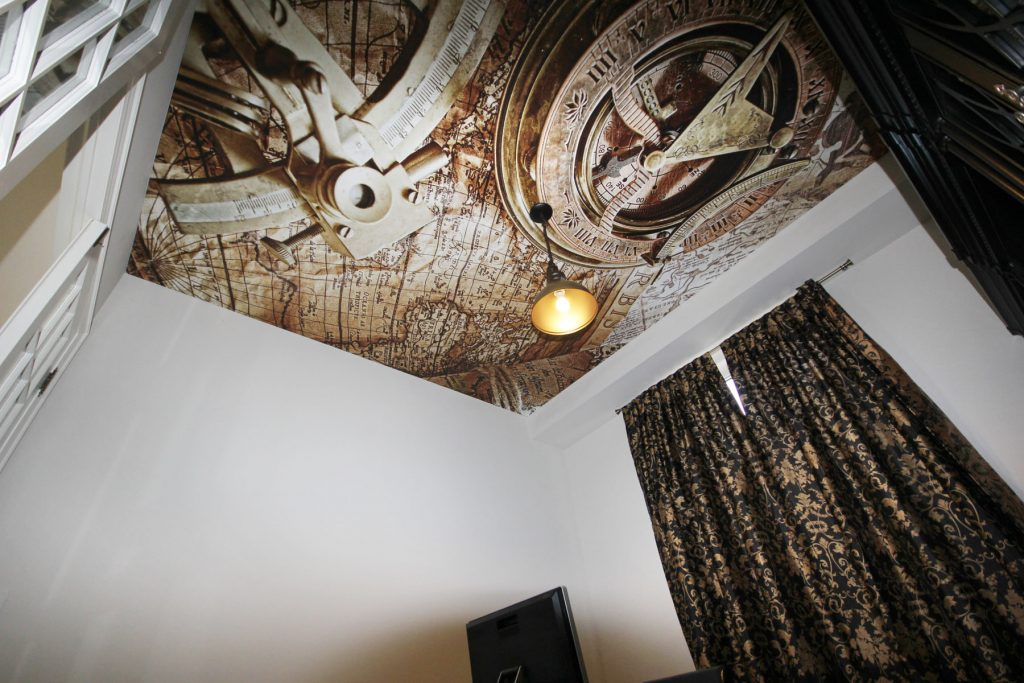custom home office with luxury Printed Ceiling by laqfoil