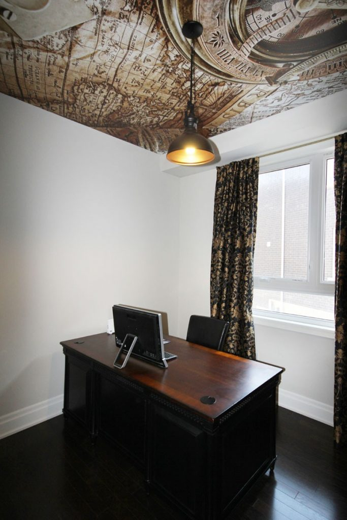 laqfoil home office with stretch ceiling picture