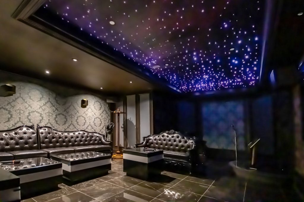 Starry Sky Ceilings in custom home theater hong kong