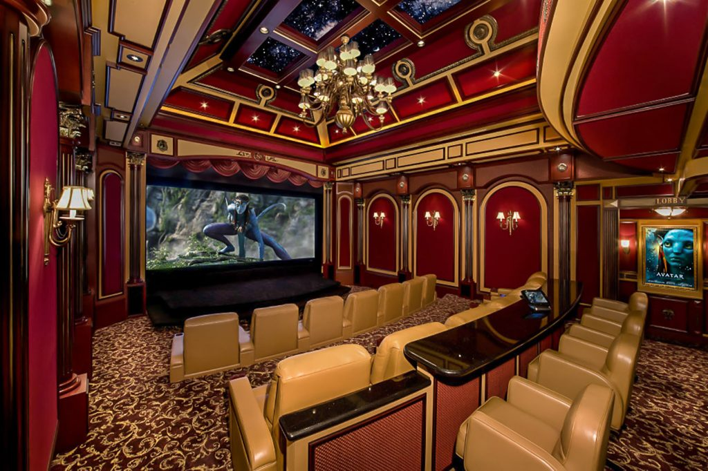 Home Theater multilevel Starry Sky Ceilings