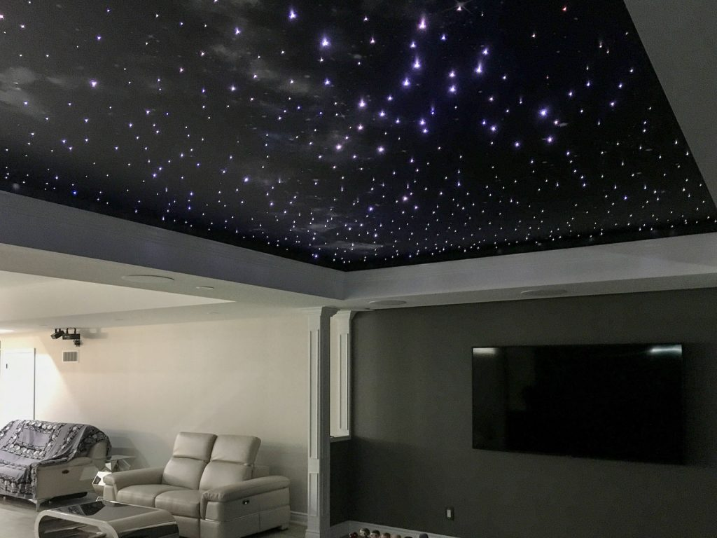 Home Theater with Starry Sky Ceilings