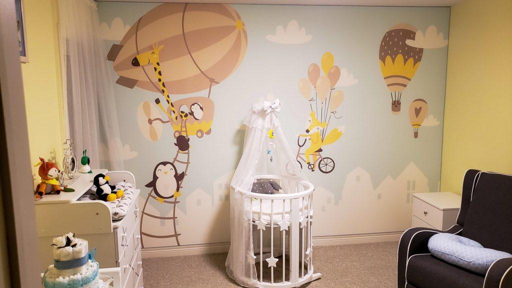 custom wall cover in amazing kids room
