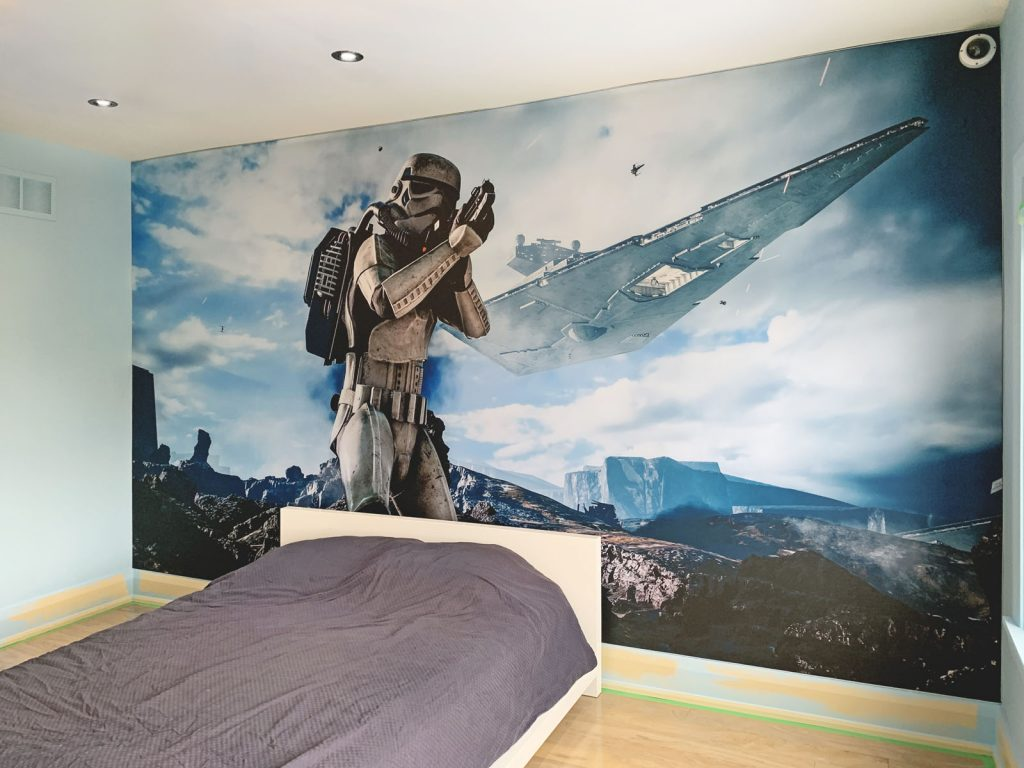 Kids Rooms star wars custom wall cover