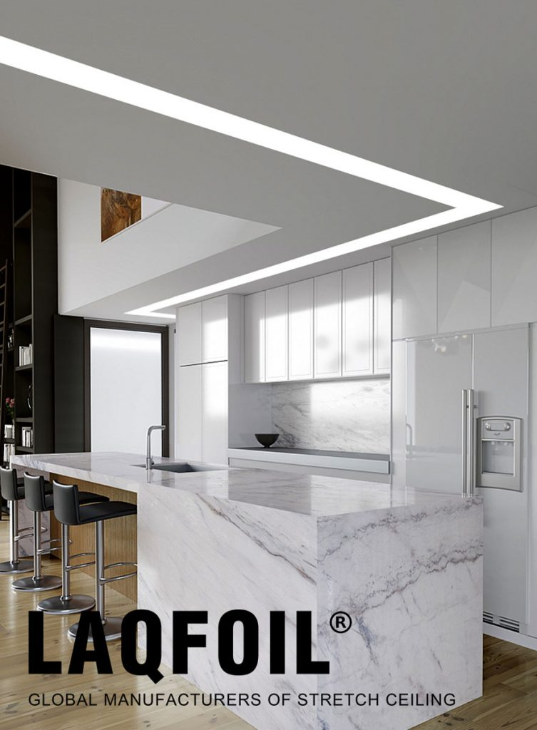 amazing Kitchen & Dining with Linear Lights Ceilings