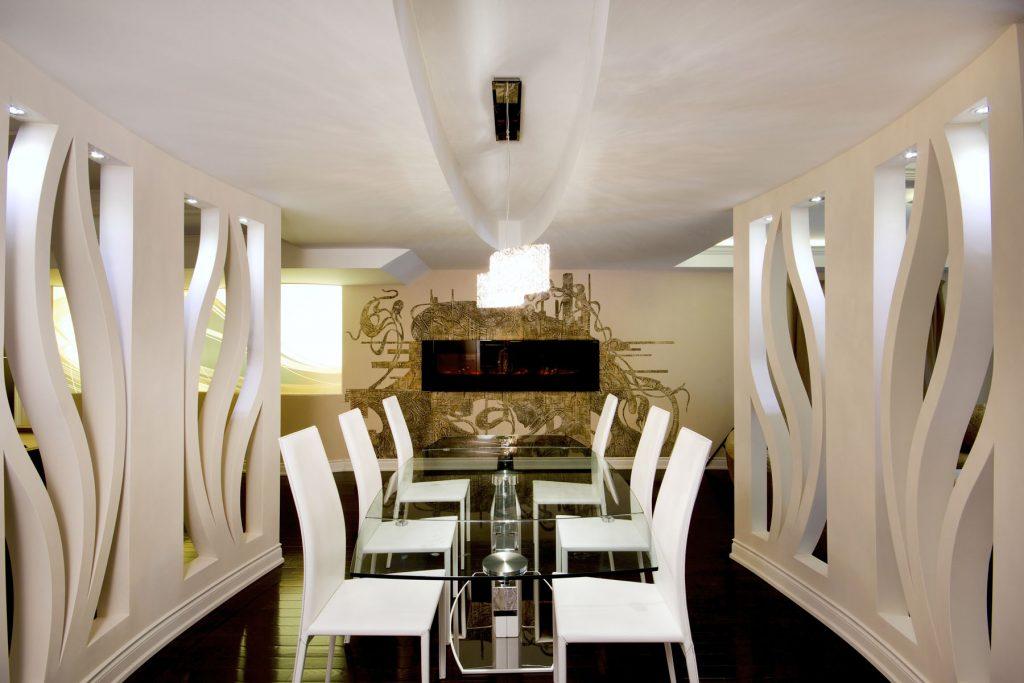 custom dining room with custom murals wallpaper