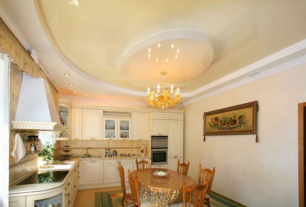 beige multilevel reflective stretch ceiling Massachusetts