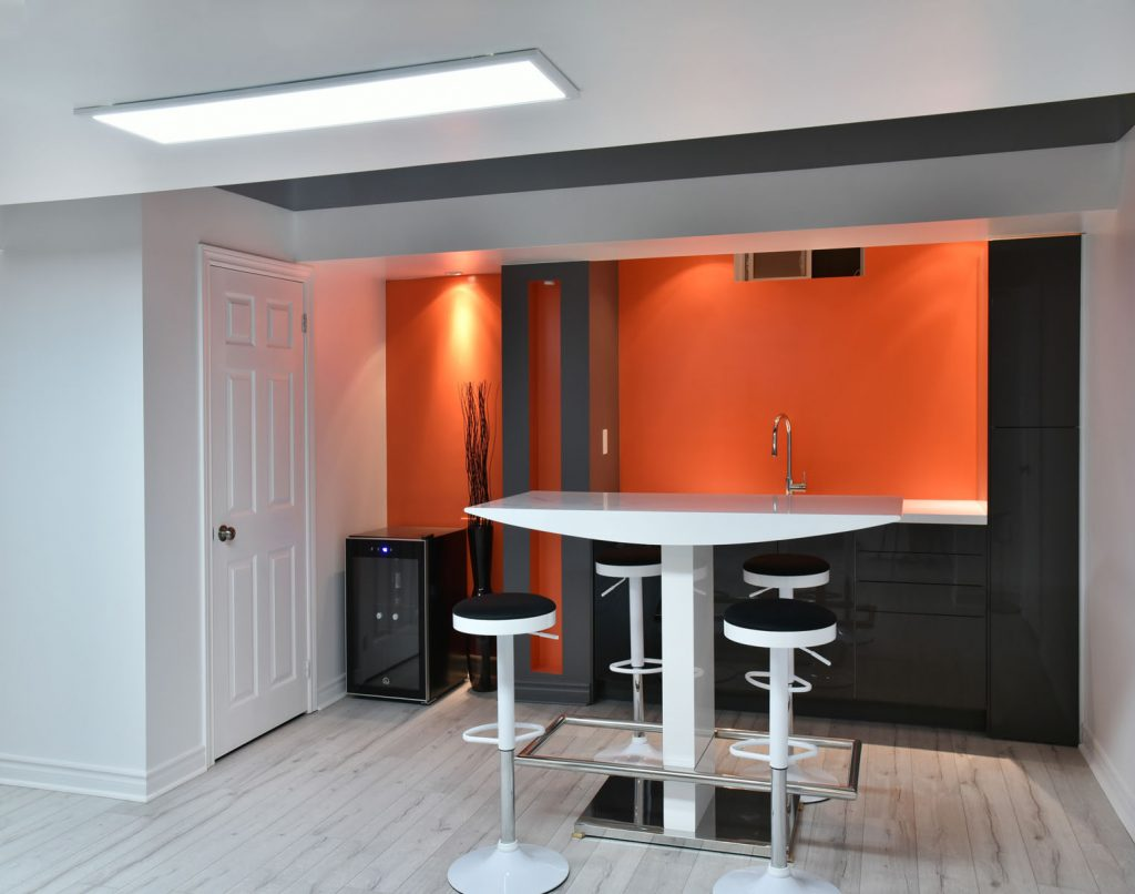 Kitchen & Dining orange custom wall cover