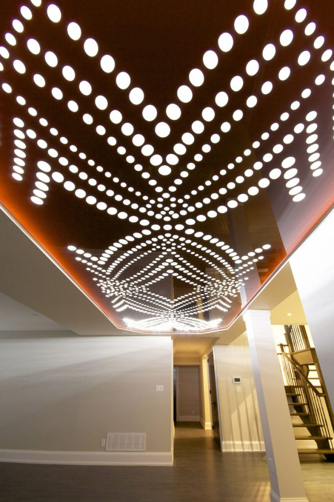 Perforated Ceilings in basement with low ceiling