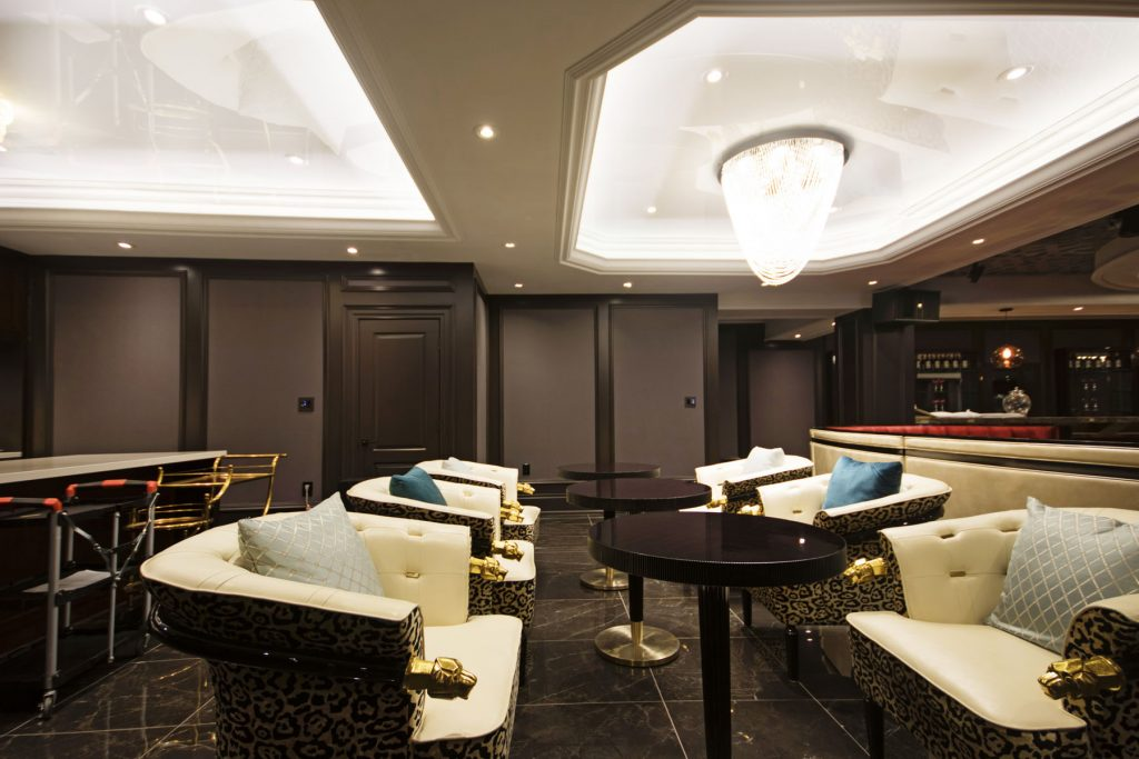 Laqfoil Basement Reflective Ceilings dining room and bar