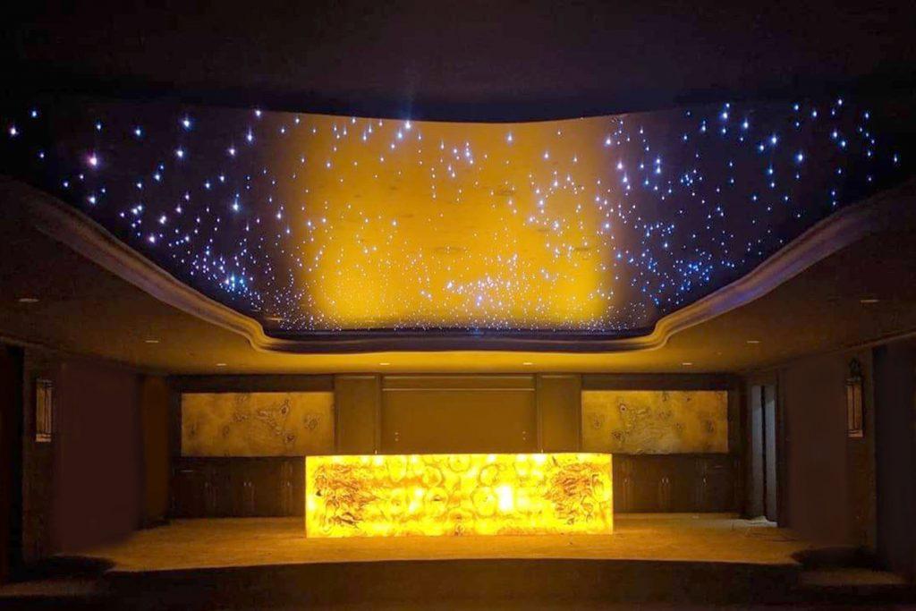 Starry Sky Ceilings in custom basement seattle