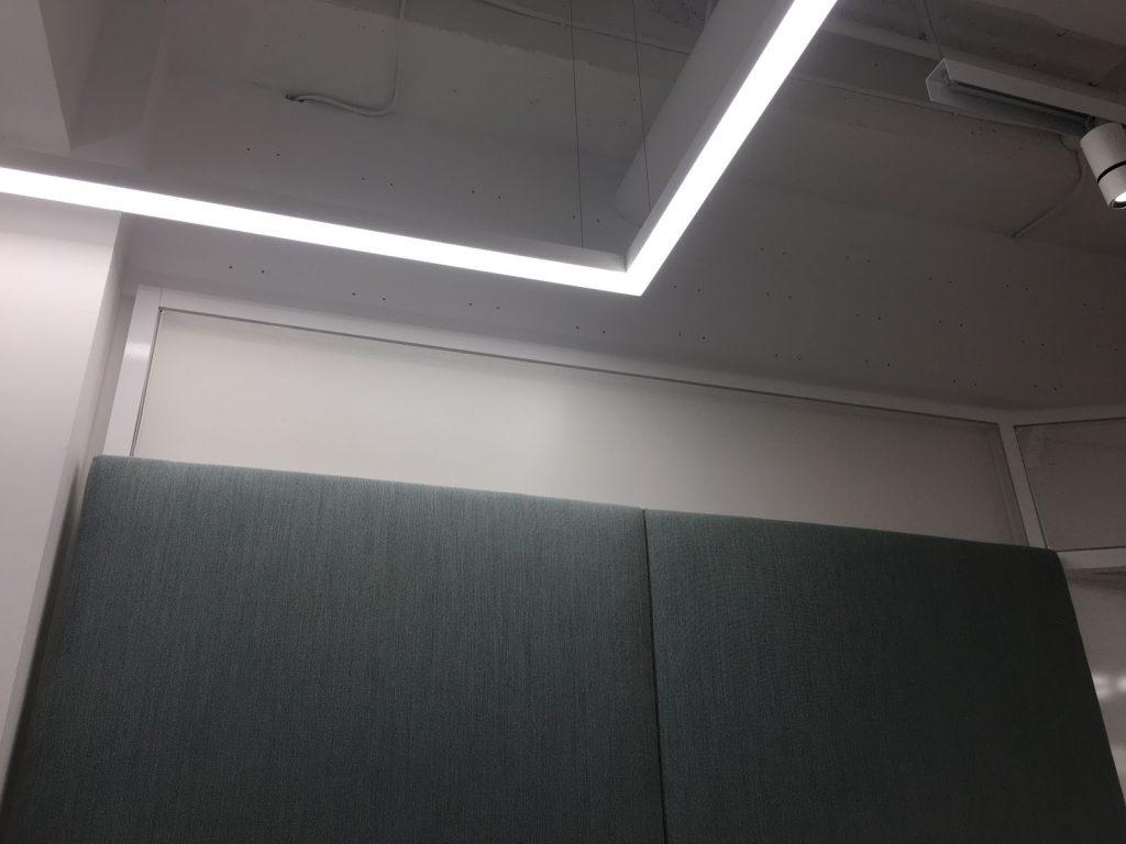 Linear Lights Ceilings in custom office montreal