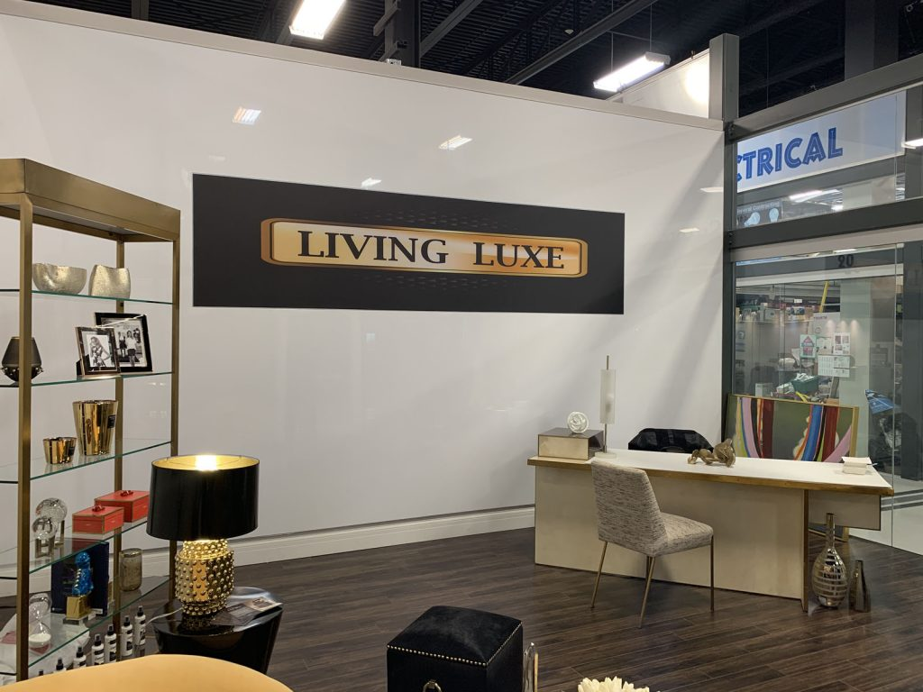 improve mall with amazing showroom for living luxe and custom banner