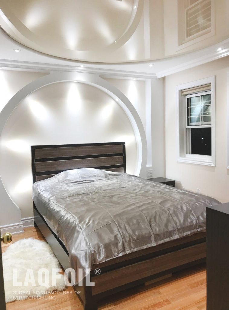 Multi-Level Ceiling in Ivory High Gloss Finish