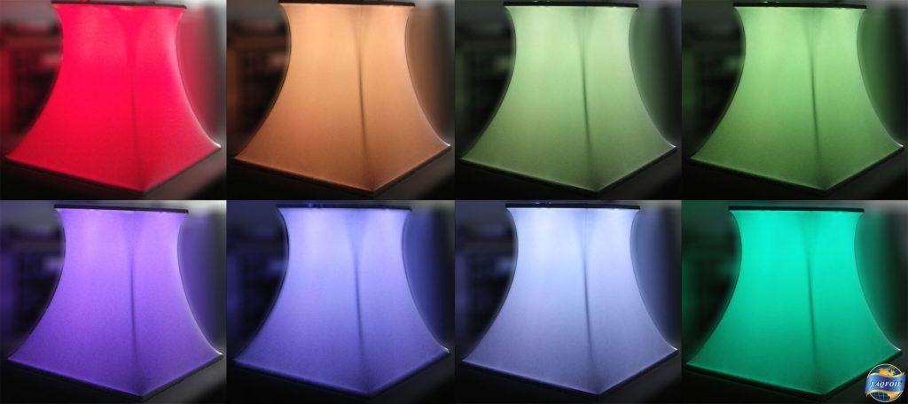 color options for modular structure in night club Muzik toronto
