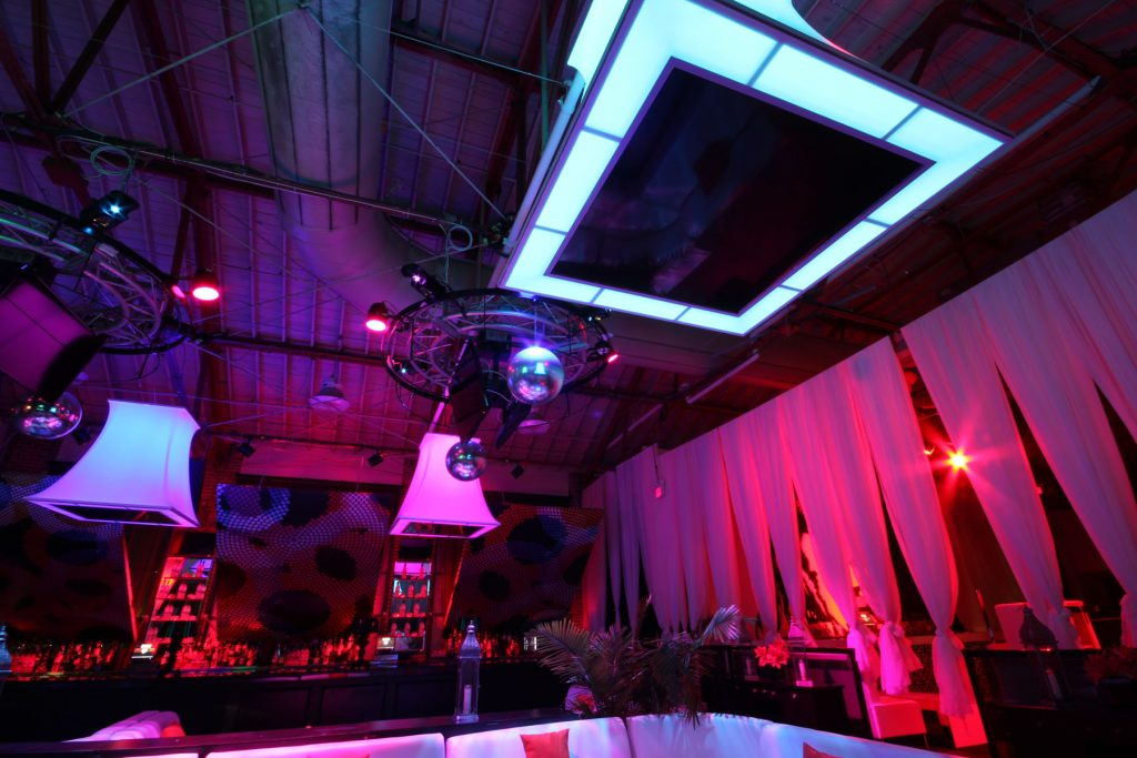 night club ceiling with multilevel modular structure toronto